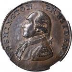 1791 Small Eagle Cent. Musante GW-17, Baker-16, W-10630. Copper. Lettered Edge. AU-58 (NGC).
