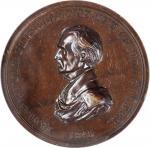 1845 James K. Polk Indian Peace Medal. Medium Size. By John G. Chapman and John Reich. Julian IP-25.