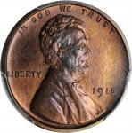 1915 Lincoln Cent. Proof-66+ RB (PCGS). CAC.