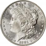 1881 Morgan Silver Dollar. MS-66+ (PCGS).