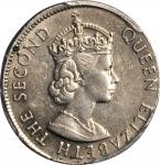 1965-KN香港伍毫错版 HONG KONG. 50 Cents, 1965-KN. Mint Error. PCGS AU-53 Gold Shield.