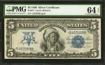 Fr. 271. 1899 $5 Silver Certificate. PMG Choice Uncirculated 64 EPQ.