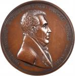 1829 Andrew Jackson Indian Peace Medal. Second Size. Second Reverse. Bronzed Copper. 62.2 mm. By Mor