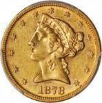 1878-S Liberty Head Half Eagle. AU-55 (PCGS).