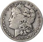 1893-S Morgan Silver Dollar. VG-10 (PCGS).