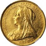 GREAT BRITAIN. 5 Pounds, 1893. NGC MS-61.