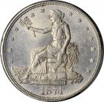 1874-CC Trade Dollar. MS-61 (PCGS).