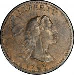 1793 Liberty Cap Cent. Sheldon-14. Liberty Cap. Rarity-5-. About Uncirculated-53+ (PCGS).