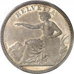 SUISSE Confédération Helvétique (1848 à nos jours). 5 francs 1873, B, Berne.