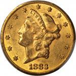 1883-CC Liberty Head Double Eagle. AU-58 (PCGS). CAC.