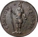 1787 Massachusetts Cent. Ryder 3-G, W-6090. Rarity-3-. Arrows in Left Talon. AU-58 (PCGS).