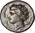 SICILY. Syracuse. Agathocles, 317-289 B.C. AR Tetradrachm (17.25 gms), ca. 310-305 B.C. BOLD VERY FI