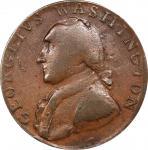 Circa 1795 North Wales Halfpenny. Musante GW-51, Baker-34. Copper. Two Star reverse. Plain edge. VF-