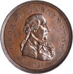 1796 Repub. Ameri Medal. First Obverse. Bronzed Copper. 33.1 mm, rims 3.0 to 3.2 mm thick. Baker-68,