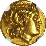 THRACE. Kingdom of Thrace. Lysimachos, 323-281 B.C. AV Solidus (8.60 gms), Uncertain mint. NGC AU, S