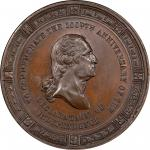 Circa 1876 Declaration of Independence medal by George Lovett and Abraham Demarest. Musante GW-830,