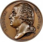 Circa 1830 Series Numismatica medal by Vivier. WASINGTON. Musante GW-100, Baker-131. Bronze. Plain e