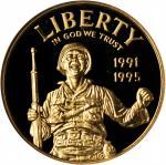 1991-1995 (1993)-W 50th Anniversary of World War II Gold $5. Proof-69 Ultra Cameo (NGC).