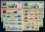 1979-88年中国银行外汇兑换券一组十三枚