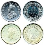 British India, George V, silver plated 1/12-Anna, 1926, Calcutta, George VI, silver plated 1/12-Anna