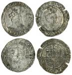 Edward VI (1547-53), coinage in the name of Henry VIII, Groats (2), both Tower mint, 2.24g, m.m. mar