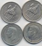 Foreign coins;INGHILTERRA Lotto di quattro monete come da foto        - BB-SPL;15