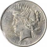 1922 GSA Peace Silver Dollar. GSA Soft Pack. Mint State (Uncertified).