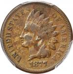 1877 Indian Cent. VF Details--Environmental Damage (PCGS).