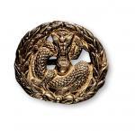 清代新军军警制式龙纹帽徽 完未流通