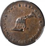 Undated (ca. 1793-1795) Kentucky Token. W-8800. Rarity-1. Copper. Plain Edge--Incomplete Planchet Cl