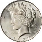 1927-D Peace Silver Dollar. MS-65+ (PCGS).