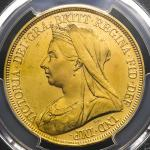 "GREAT BRITAIN Victoria ヴィクトリア(1837~1901) 5Pounds 1893 PCGS-AU Details ""Repaired"" 肖像に軽い削りある以外 EF"