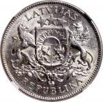 拉脱维亚1925年2拉特及1929年5拉特、1935年比利时50法郎,分别评NGC MS62, PCGS MS62及PCGS MS62