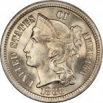 1888 Nickel Three-Cent Piece. MS-67 (PCGS).