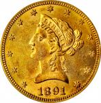 1891-CC Liberty Head Eagle. MS-61 (PCGS).