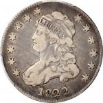 1822 Capped Bust Quarter. B-2. Rarity-5. 25/50 C. VF Details--Graffiti (PCGS).