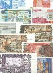 x Banque Centrale dAlgerie, a selection of the later issues, comprising 5, 10, 100 (2), 500 dinars,