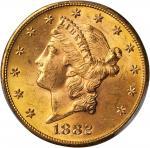 1882-S Liberty Head Double Eagle. MS-63+ (PCGS). CAC.