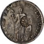 PHILIPPINES. Philippines - Peru. 8 Reales, ND (1834-37). Isabel II. PCGS Genuine--Damage, VF Details