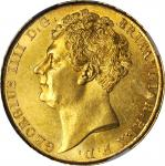 GREAT BRITAIN. 2 Pounds, 1823. George IV (1820-30). NGC MS-63.