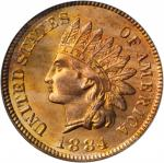 1884 Indian Cent. MS-65 RD (PCGS). CAC. Gold Shield Holder.