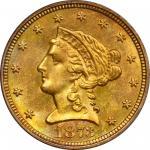 1873-S Liberty Head Quarter Eagle. MS-64 (PCGS). OGH.