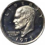 1973-S Eisenhower Dollar. Silver Clad--Broadstruck--Proof-67 Ultra Cameo (NGC).