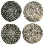 Henry VII (1485-1509), Groats (2), both type IA, 2.67g, m.m. lis and rose dimidiated/halved sun and