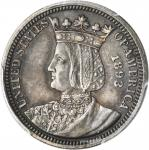 1893 Isabella Quarter. AU-55 (PCGS).