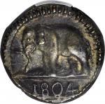1804年锡兰48 斯图维尔。乔治三世。 CEYLON. 48 Stivers, 1804. George III. PCGS AU-55.