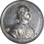 """RUSSIA. Peter I (the Great)/Capture of Dorpat White Metal Medal, """"1704"""" (ca. 1800). NGC MS-62."""