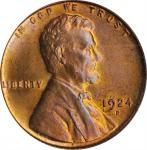 1924-D Lincoln Cent. MS-64 RD (PCGS).