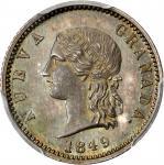 COLOMBIA. 1849 pattern Peso. Bogotá mint. Restrepo P70. Silver. SP-65 (PCGS).