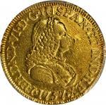 COLOMBIA. 2 Escudos, 1757-J. Bogota Mint. Ferdinand VI (1746-59). PCGS Genuine--Mount Removed, AU De